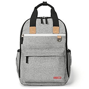 Skip Hop Duo Diaper Backpack - Grey Melange