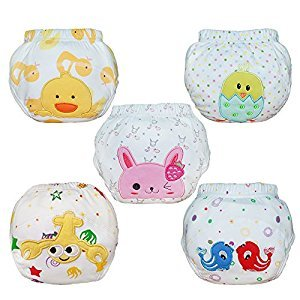 Babyfriend Baby Kids Potty Training Pants Washable Cloth Diaper Nappy Underwear