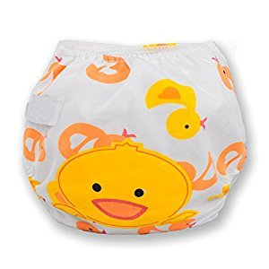 Binglinghua® 3pcs Baby Swim Diapers Pants Leakproof Reusable Adjustable Diaper Covers (Duck)