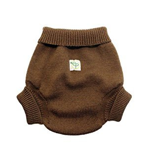 EcoPosh Wool Diaper Cover, Umber, Size 2