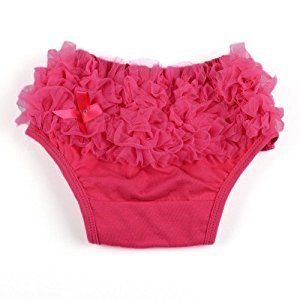 Hot Pink Baby Girl Ruffle Panties Bloomers Diaper Cover S