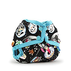 Kanga Care Rumparooz Newborn Cloth Diaper Cover Snap, Tokispace with Aquarius Trim