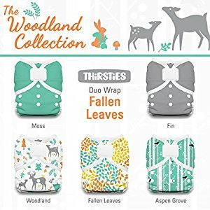Thirsties Package-Duo Wrap Hook and Loop-Woodland Collection, Fallen Leaves Size One (6-18-Pound)