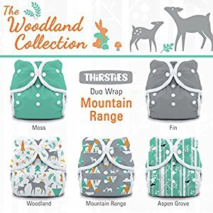 Thirsties Package-Snap Duo Wrap-Woodland Collection, Mountain Range Size One (6-18-Pound)