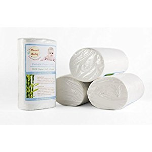 Flushable Diaper Liners 6 Pack by Planet Baby, Biodegradable Super Soft Viscose Each Roll 100 Sheets (6 Rolls)