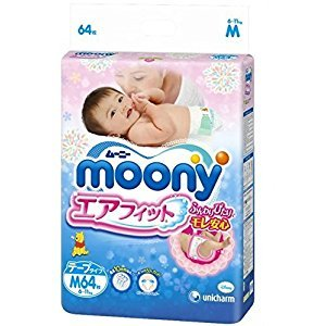 Japanese diapers - nappies Moony M (6-11 kg.)// ???????? ?????????? Moony M (6-11 kg.)