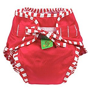 Kushies Baby Unisex Swim Diaper - Small,Red Solid,Small,