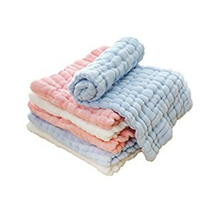 Staringirl 6 Piece Newborn Baby Cotton Reusable Soft Cloth Inserts Blend Cloth Diaper 12 Layers (Mix)