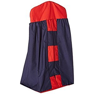 Baby Doll Bedding Patchwork Perfection Diaper Stacker, Navy/Red