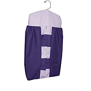 Baby Doll Bedding Patchwork Perfection Diaper Stacker, Plum/Lavender