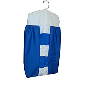 Baby Doll Bedding Patchwork Perfection Diaper Stacker, Royal Blue/Light Blue