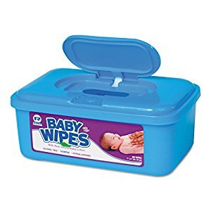 Royal Baby Wipes Tub, Scented, White, 80/Tub, 12 Tubs/Carton