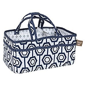 Trend Lab Hexagon Storage Caddy, Navy/White