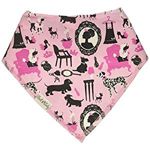 Unik Occasions Baby Bandana Drool Bib 1 Made from 100% Organic Cotton for Girls
