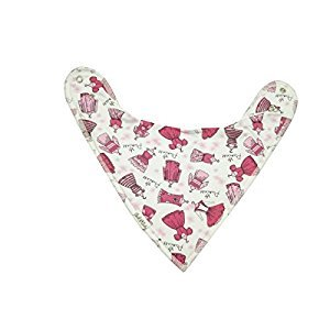 Unik Occasions Baby Bandana Drool Bib 3 Made from 100% Organic Cotton for Girls