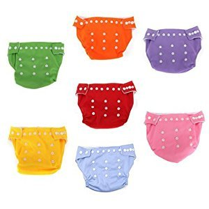 7pcs Reusable Washable Adjustable Baby Soft Cloth Diaper Nappy with Inserts Toddler Dry Tender Care