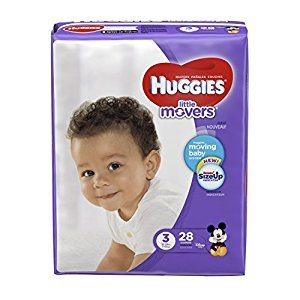 HUGGIES LITTLE MOVERS, Baby Diapers, Size 3,  28ct