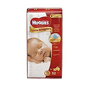 Huggies Little Snugglers Baby Diapers, Newborn, 32 Count