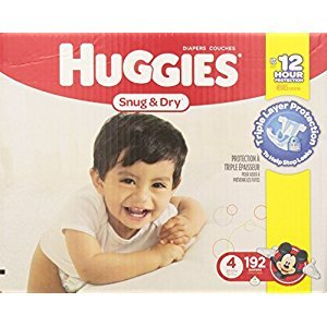 Huggies Snug and Dry Diapers, Step 4, Economy Plus, 192-Count