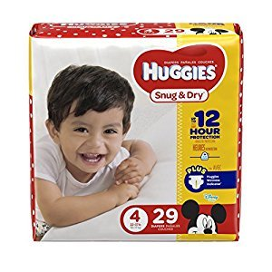 HUGGIES Snug & Dry Diapers, Size 4, 29 Count