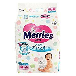 Merries Diapers, 6-11 Kg, 64 Pieces (japan import)