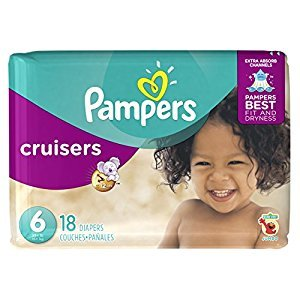 Pampers Cruisers Disposable Baby Diapers Size 6, Jumbo Pack, 18 Count