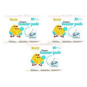 Select Kids Booster Pads Diaper Doubler, 90 count, 3 Packs of 30