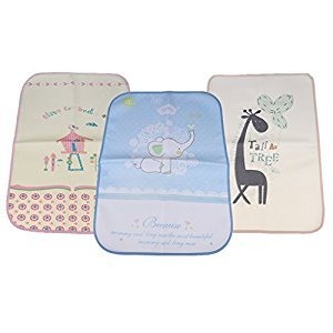 Fenteer 3 Pieces Waterproof Diaper Change Mat Pad Sheet Protector for Children 50x70cm
