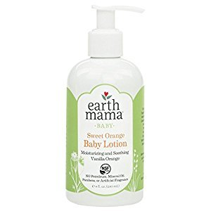 Earth Mama Sweet Orange Baby Lotion with Organic Calendula, 8-Ounce