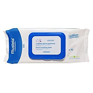 Mustela Ultra Soft Dermo-Soothing Baby Wipes with Natural Avocado Perseose & Aloe Vera, Scented, 70 Count, 84 lb