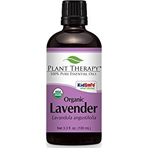 Plant Therapy USDA Certified Organic Lavender Essential Oil. 100% Pure, Undiluted, Therapeutic Grade. 100 mL (3.3 Ounce).