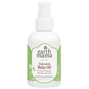 Angel Baby Oil, Fragrance-free with Organic Calendula (4 Fl. Oz.)