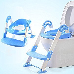 Fashionzone Portable Ladder Toilet Baby Potty Training Chair Plastic Toilet Seat Urinal