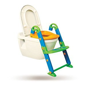KidsKit 3 in 1 Potty Training Seat Potty Chair | Potty Seat Training Sturdy Non-Slip Ladder, Toilet Seat Reducer Portable Potty
