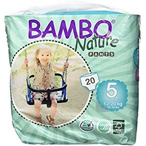 Bambo Nature Baby Training Pants Classic, Size 5 (26-44 lbs), 20 Count