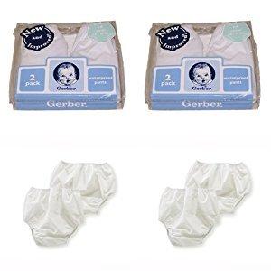 Gerber Plastic Pants, 12 Months, Fits 20-24 lbs. (4 pairs)