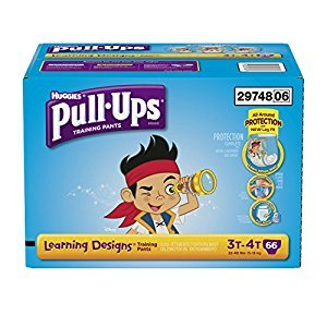 Pull ups Training Pants with Learning Designs for Boys, 3T-4T, 66 Count