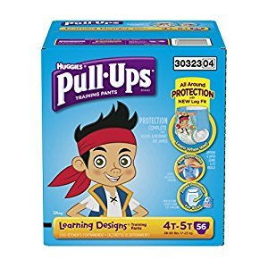Pull ups Training Pants with Learning Designs for Boys, 4T-5T, 56 Count