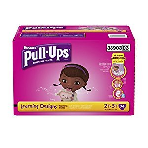 Pull ups Training Pants with Learning Designs for Girls, 2T-3T, 74 Count