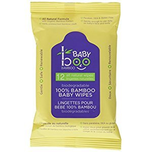 Baby Boo Bamboo Travel Wipes, 12 Count