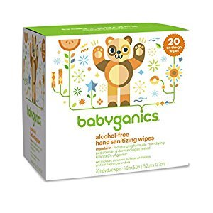Babyganics Alcohol-Free Hand Sanitizing Wipes, Mandarin, On-The-Go, 20 count reseal pack
