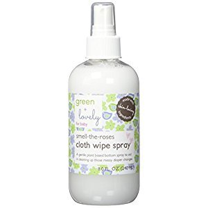 Green + Lovely smell the roses cloth wipe spray, 8 Ounce