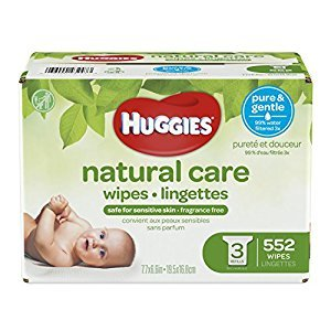 HUGGIES NATURAL CARE Fragrance-Free & Hypoallergenic Baby Wipes (3X Refill Packs, 552 Count)