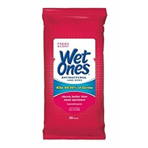 Wet Ones Travel Pack Antibacterial - 20 Count, Pack of 4