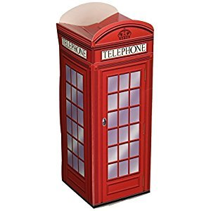 Beistle 54121 Phone Box Favor Boxes, 3-Inch X 8 X 1/42-Inch, Count-3, Multicolored