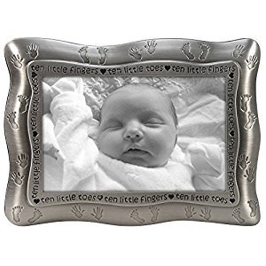 Malden Ten Little Fingers, Ten Little Toes Pewter Frame, Pewter