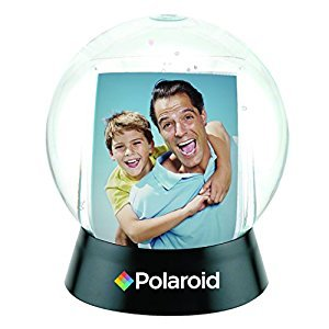"Polaroid Interactive Sphere Snow Globe Photo Holder – Great Display For Your 2x3"" Polaroid Memories For Zink 2x3 Photo Paper Projects (Snap, Pop, Zip, Z2300)"