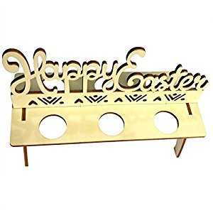 Easter Decoration DIY Wooden Cute Egg Tray, Easter Party Home Decor Three Shape to Choose Happy Letter