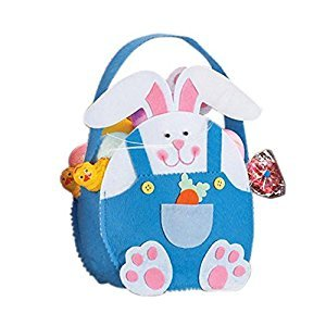 Taiguang Cute Cartoon Rabbit Bunny Easter Gift Candy Cloth Bag Party Decoration (Blue)