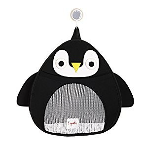 3 Sprouts Bath Storage, Penguin,Black